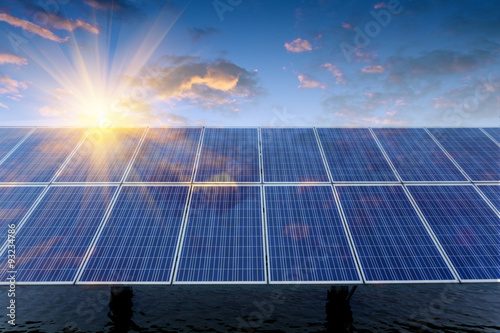 Obraz Solar panels - fototapety do salonu