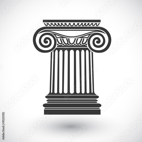 Foto op Aluminium Bedehuis ionic column