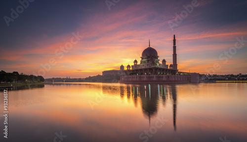 Canvas Prints Kuala Lumpur Putrajaya Mosque Sunrise