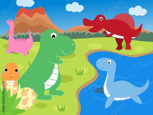 Deurstickers Dinosaurs Dinosaur