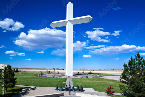 Fotobehang Route 66 U.S.A. Texas,Groom, the Cross Sanctuary near the Route 66