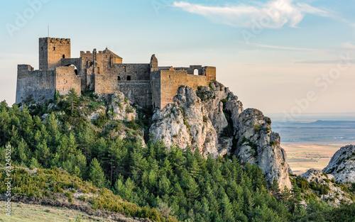 Recess Fitting Castle Medieval castle of Loarre,Aragon, Spain