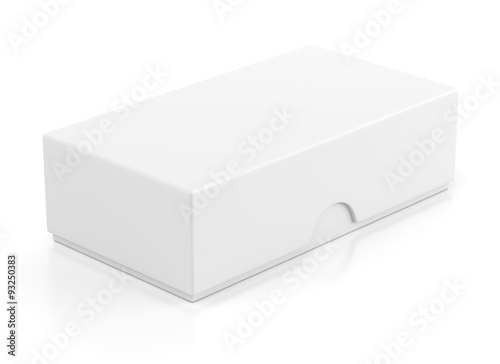 Closed box package for mobile phone on white Poster