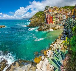 Fototapeta Kolorowe domki Riomaggiore, Cinque Terre, Liguria, Italy