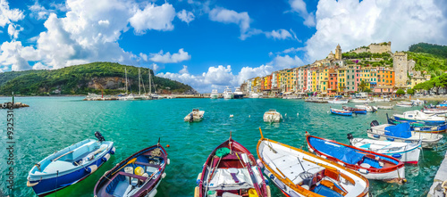 Photo sur Toile Ligurie Fisherman town of Portovenere, Liguria, Italy