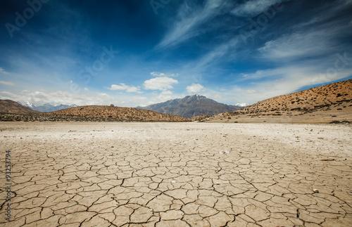 Stampa su Tela Dry Dhankar lake