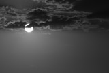 full moon in the dark night, black and white monochrome image - 93255516