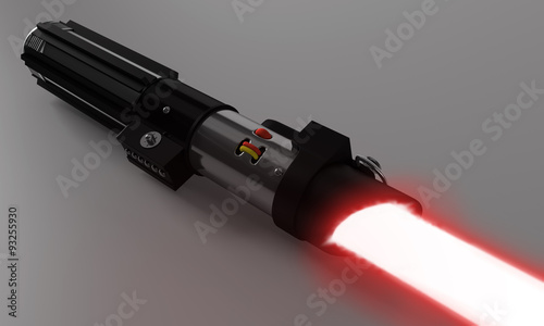 Photo  Realistic red laser sword