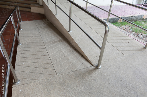 Obraz na plátně ramp way for support wheelchair disabled people made from sand a