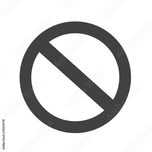 blank ban Symbol icon Wall mural
