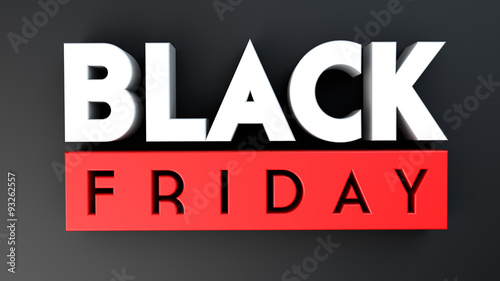 Fotografia  Black Friday 3D on black background