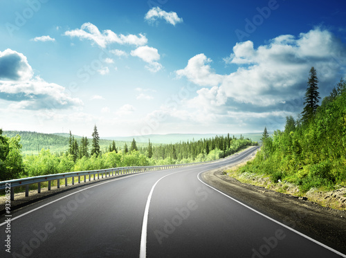 Fototapety, obrazy: road in north mountains