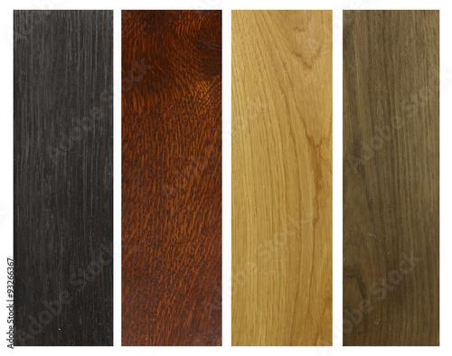Fototapeta four colours of wood obraz
