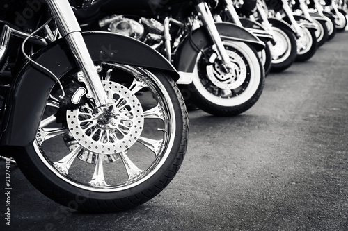 Canvas Print Motorcycles in a row