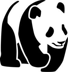 Fototapeta Panda Panda silhouette