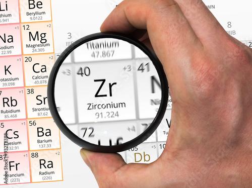Fotografia, Obraz  Zirconium symbol - Zr