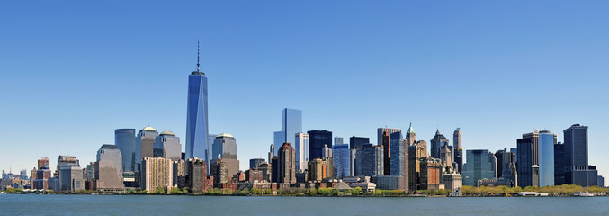 New York panorama - Upper west side, Downtown, Chelsea, Soho, Tribeca, Nolita, Battery Park, Financial District, Hudson river
