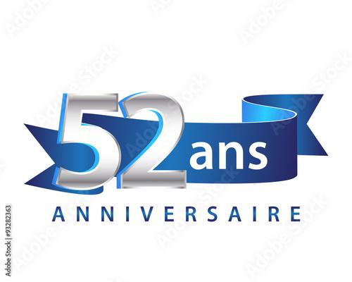 Fotografia  52 Ruban Bleu Logo Anniversaire