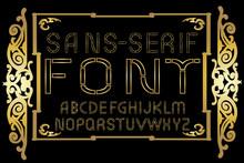 Golden Sans-serif Modern Font ...