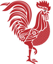 Red Folk Rooster