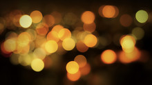 Abstract Night Bokeh Background With Defocused Lights.