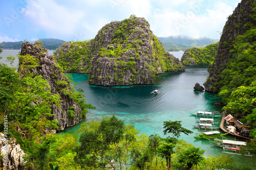 Fotobehang Eiland landscape of Coron, Busuanga island, Palawan province, Philippines