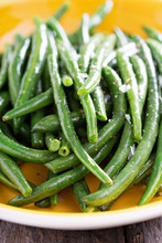 Sauteed Green Beans On Big Plate