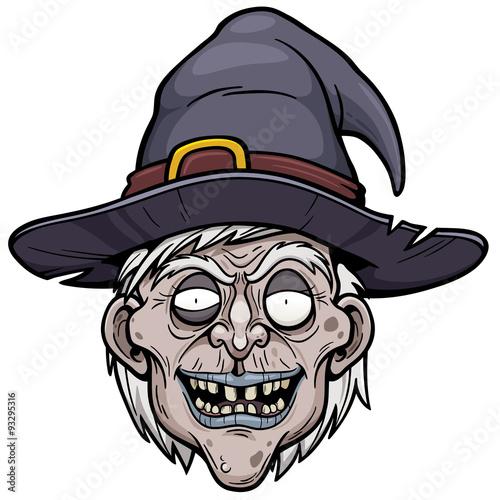 Obraz na plátne Vector illustration of cartoon Witch