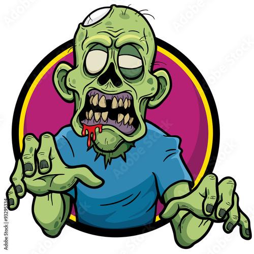 Fotografía Vector illustration of Cartoon zombie