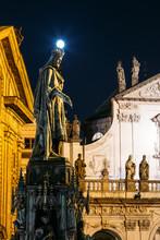 Statue Of Czech King Charles Iv In Prague, Czech Republic