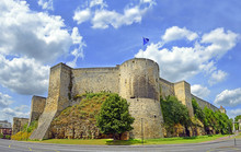 Caen Castle In The Calvados Departement In Normandy, France