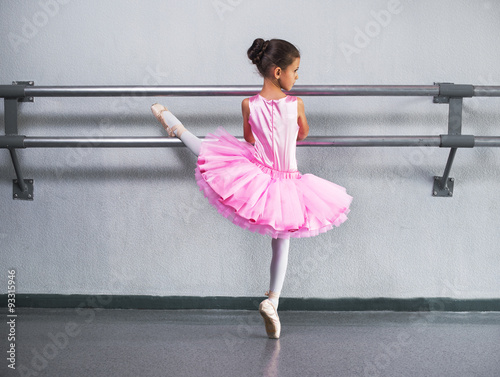 Fotografie, Obraz  beautiful little ballerina in pink dress in dance class