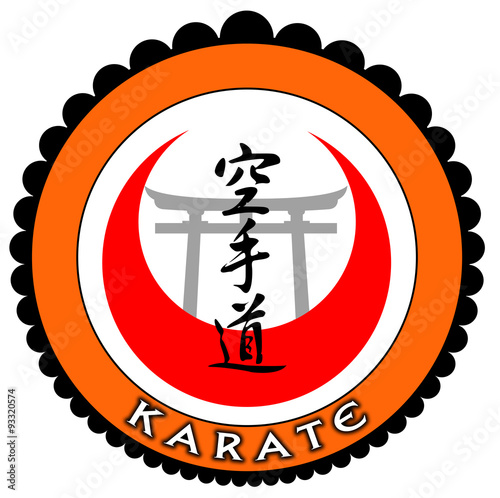 Photo  Emblema karate laranja com portal