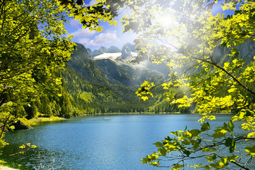 Panel Szklany Góry Lac inférieur de Gosau Autriche