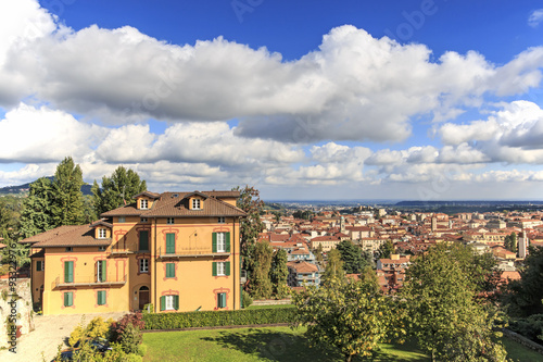Panoramic view of Biella from the Piazzo: the old part of the city Canvas Print