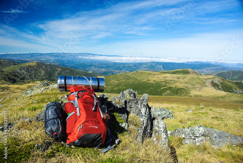 Backpack at Pena Trevinca