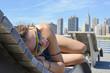 Girl enjoying Manhattan view