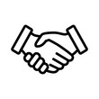 Business agreement handshake line art icon for apps and websites