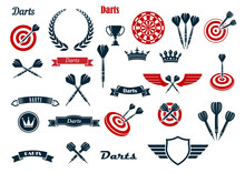 Darts Game Ditems And Heraldic Elements