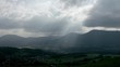 Clouds movement over the mountains timelapse fast view. Alsace, France.