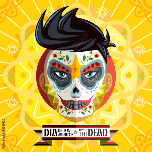Photo  Dia De Los Muertos Day Of The Dead Skull Face Painting