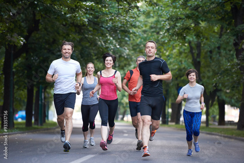 Papiers peints Jogging people group jogging