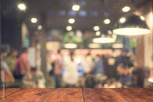Photo  Blurred coffee shop