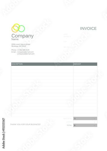 Professional Invoice Template Acheter Ce Vecteur Libre De Droit Et