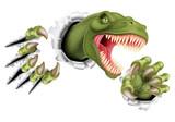 Fototapeta Dinusie - T Rex Dinosaur Claws Ripping