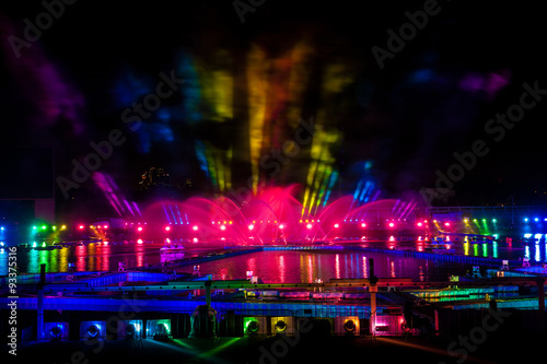 Photo Laser and fireworks show in Moscow, Russia