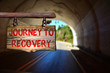 Leinwandbild Motiv Journey to recovery sign