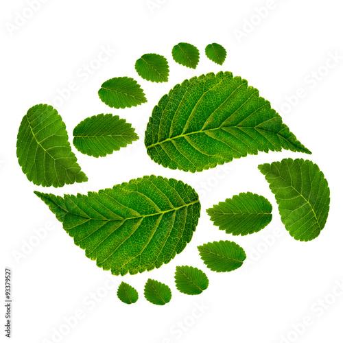 Photo  Footprint ying jang  sign