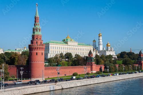 Fotografia the Moscow Kremlin and  waterfront, Russia