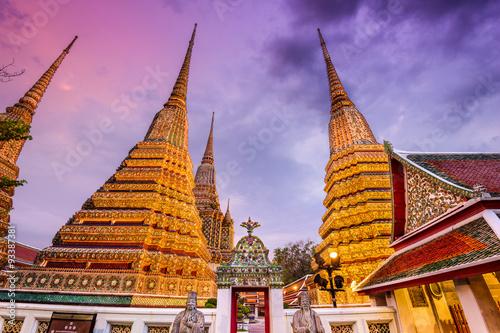 Poster Bangkok Wat Pho in Bangkok